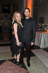 RITA SIMONS and THEO SILVESTON at the 50th birthday party for Jonathan Shalit held at the V&A Museum, London on 17th April 2012.