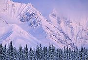 Alaska Range, Winter, Glacier, Crevasse, Ice, Snow, Mount McKinley, Denali National Park, Alaska