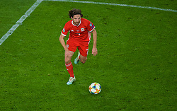 CARDIFF, WALES - Sunday, October 13, 2019: Wales' Joe Allen during the UEFA Euro 2020 Qualifying Group E match between Wales and Croatia at the Cardiff City Stadium. (Pic by Paul Greenwood/Propaganda)