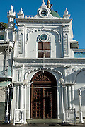 The Jummah Masjid is a mosque in Port Louis, Mauritius dating from the 1850s, with substantial additions built through the 1890s. It is located on the Royal Road. It is one of the most beautiful religious building in the country.