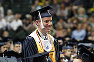 Salutatorian Jeffrey Bruns is recognized during the 29th annual Kettering Fairmont High School commencement at the Nutter Center in Fairborn, Thursday, May 31, 2012.