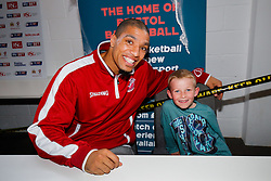 Greg Streete of Bristol Flyers Basketball meets fans as Season ticket holders and members of Bristol Sport 7s and Forever Bristol take part in a Bristol Sport Halloween Event - Mandatory byline: Rogan Thomson/JMP - 07966 386802 - 29/10/2015 - SPORT - Ashton Gate Stadium - Bristol, England - Bristol Sport Halloween at Ashton Gate.