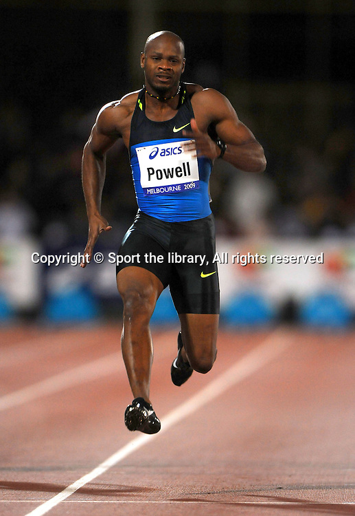 Asafa Powell (JAM) 100m winner2009 IAAF World Athletics TourMelbourne Grand Prix MeetOlympic Park, AUS/March 5th© Sport the library / Jeff Crow