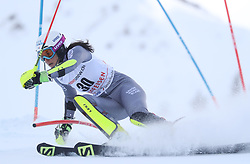 28.01.2018, Lenzerheide, SUI, FIS Weltcup Ski Alpin, Lenzerheide, Slalom, Damen, 1. Lauf, im Bild Nastasia Noens (FRA) // Nastasia Noens of France in action during her 1st run of ladie's Slalom of FIS ski alpine world cup in Lenzerheide, Austria on 2018/01/28. EXPA Pictures © 2018, PhotoCredit: EXPA/ Sammy Minkoff<br /> <br /> *****ATTENTION - OUT of GER*****