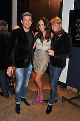Left to right, PHIL TURNER, TAMARA ECCLESTONE and GARY COCKERILL at the Lighthouse Gala Auction in aid of The Terrence Higgins Trust held at Christie's, 8 King Street, St.James' London on 19th March 2012.
