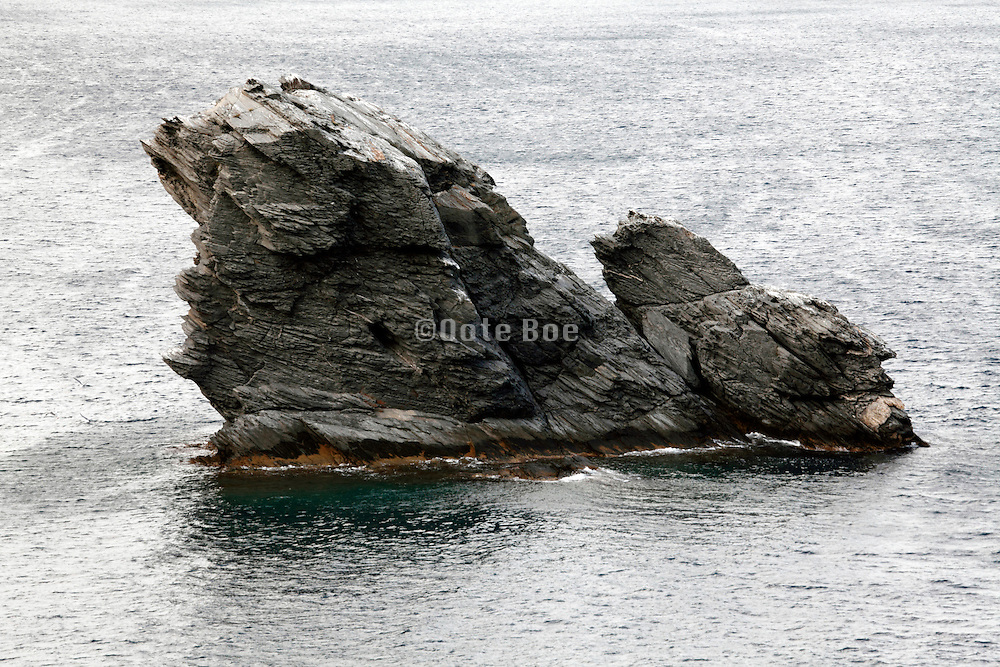 rock outcrop in the Mediterranean sea at Cadaques Spain