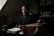 Bengbu (Anhui), le 14 mars 2013.Zhang Hongbin chez lui