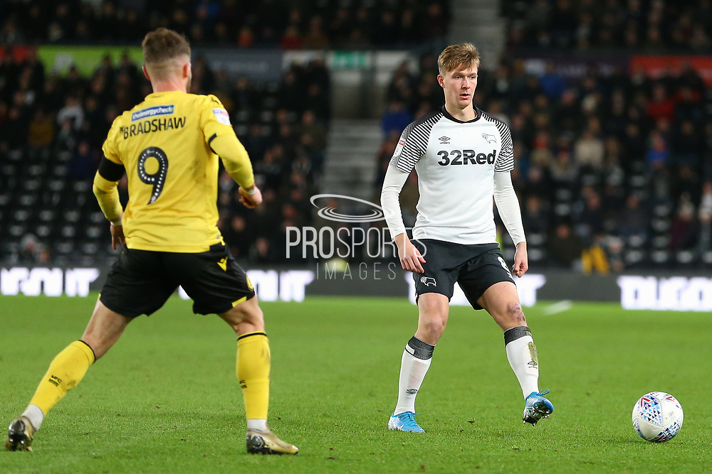 Derby County midfielder Kieran Dowell (8) during the EFL Sky Bet Championship match between Derby County and Millwall at the Pride Park, Derby, England on 14 December 2019.