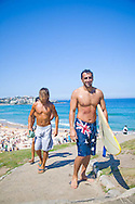 Bondi Beach on a sunny, warm Sunday morning, Sydney, NSW, Australia
