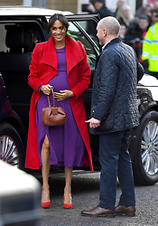 The Duchess of Sussex on a walkabout to visit a new sculpture in Hamilton Square to mark the 100th anniversary of war poet Wilfred Owen's death, during a visit to Birkenhead. Photo credit should read: Doug Peters/EMPICS