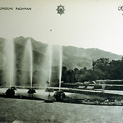1920s<br /> A group of four fountains was a flamboyant addition. Souvenir post card printed in Paris in the 1920s.