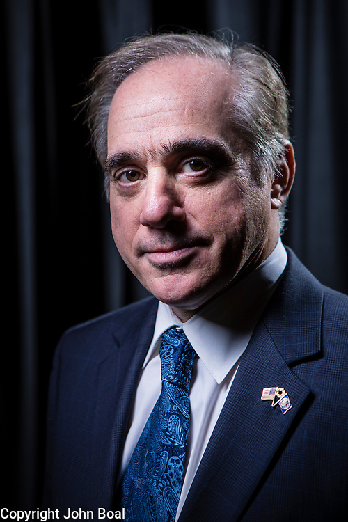 Veterans Affairs Secretary, David Sulking sat down for an exclusive interview in Washington, D.C., on Monday, February, 26, 2018. Secretary Shulkin answered questions, after a tumultuous two weeks following the release of an inspector general's report that found he improperly accepted Wimbledon tickets and taxpayer-funded airfare for his wife during a European trip last year.  --    Photo by John Boal, Freelance