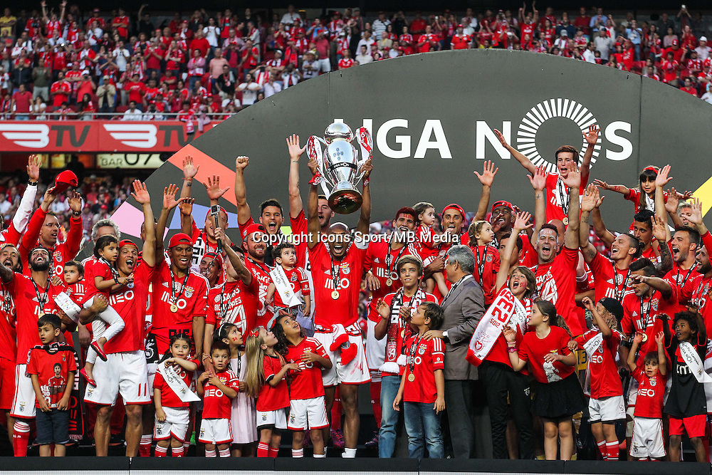 Joie groupe Benfica - 23.05.2015 - Benfica / Maritimo - Liga Sagres <br /> Photo : Carlos Rodriguez / Icon Sport