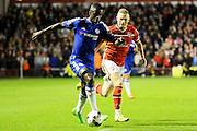 Ramires on th attack during the Capital One Cup match between Walsall and Chelsea at the Banks's Stadium, Walsall, England on 23 September 2015. Photo by Alan Franklin.