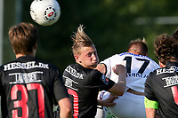 Fotball<br /> 01.07.2015<br /> Foto: Gepa/Digitalsport<br /> NORWAY ONLY<br /> <br /> SK Sturm Graz vs FC Midtjylland, test match. <br /> <br /> Image shows Daniel Royer (Midtjylland) and Martin Ehrenreich (Sturm).