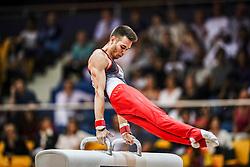 November 2, 2018 - Doha, Qatar - Nariman Kurbanov of Kazakhstan   during  Pommel Horse for Men at the Aspire Dome in Doha, Qatar, Artistic FIG Gymnastics World Championships on 2 of November 2018. (Credit Image: © Ulrik Pedersen/NurPhoto via ZUMA Press)