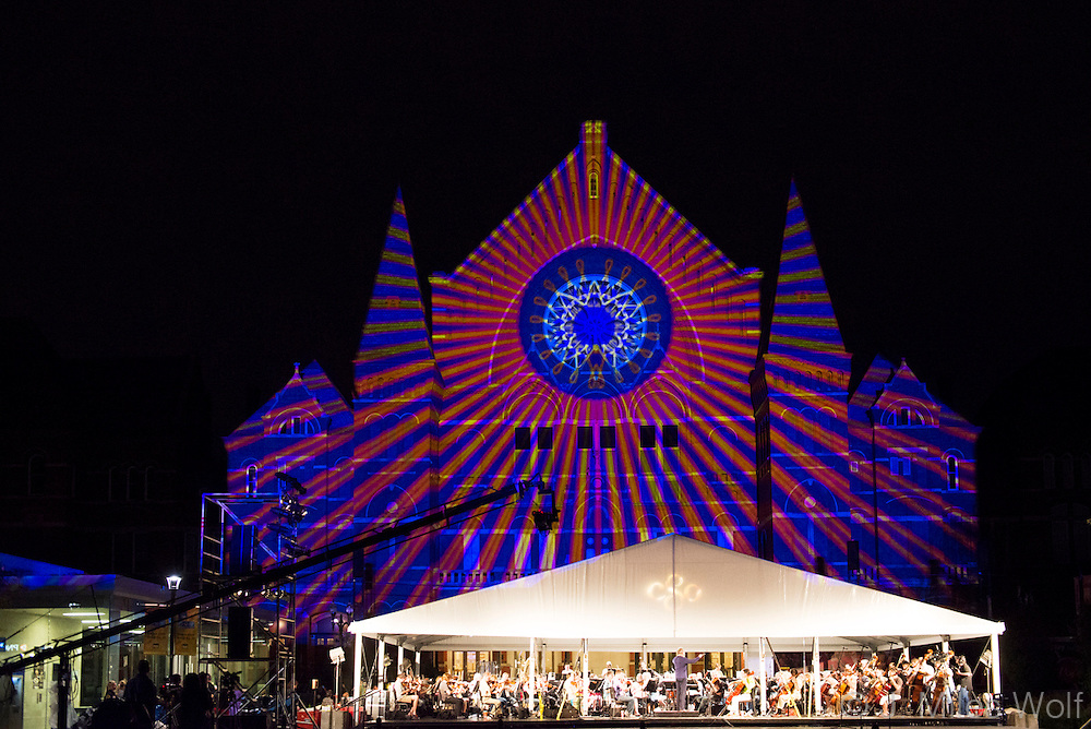 Lumenocity in Cincinnati's Washington Park at Music Hall