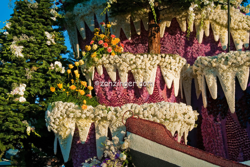 Flower covered floats used in 2010  Rose Parade, Tournament of Roses, Pasadena; CA