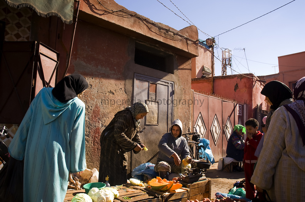 Market in the streets of Marrakech.