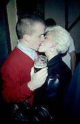 Neville kissing Sharon at a Party, High Wycombe, UK, 1980s.