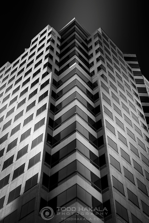 My first try at replicating all those beautiful B&W treatments of architecture.