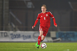BALLYMENA, NORTHERN IRELAND - Thursday, November 20, 2014: Wales' Matty Smith in action against Northern Ireland during the Under-16's Victory Shield International match at the Ballymena Showgrounds. (Pic by David Rawcliffe/Propaganda)