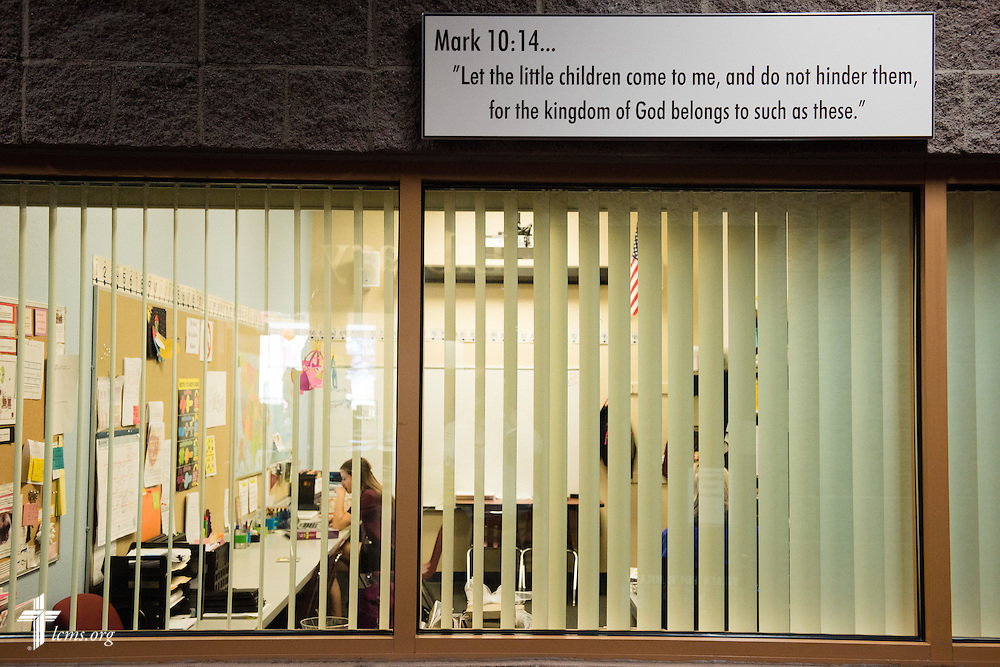 The Mark 10:14 office at Faith Lutheran Middle School & High School on Tuesday, May 26, 2015, in Las Vegas, Nev.  LCMS Communications/Erik M. Lunsford