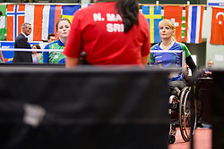 Barbara Meglic and Andreja Dolinar at 14th Slovenia Open - Thermana Lasko 2017 Table Tennis for the Disabled Factor 40, on May 7, 2017, in Dvorana Tri Lilije, Lasko, Slovenia. Photo by Urban Urbanc / Sportida