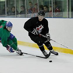 OAKVILLE, ON - Oct 28 : 2013 World Junior A Challenge / Defi Modial Junior A 2013.<br /> (Photo by Tim Bates / OJHL Images)