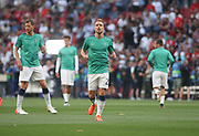 Christian Eriksen warms up prior the Champions League Final match between Tottenham Hotspur and Liverpool at Tottenham Hotspur Stadium, London, United Kingdom on 1 June 2019.