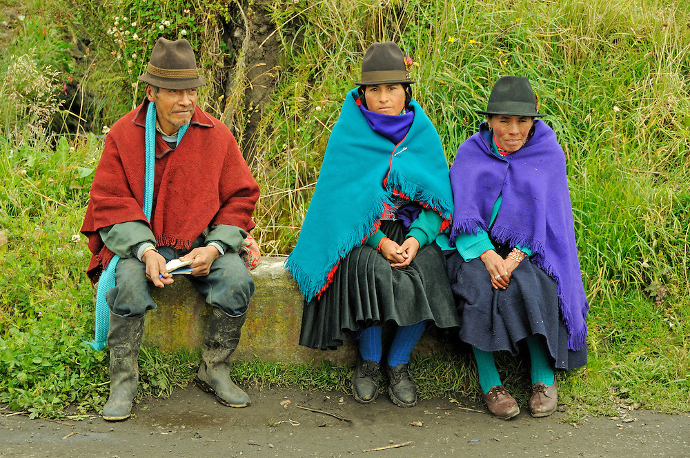 Indigenous people, Pilahuin, Andes Mountains, Ecuador
