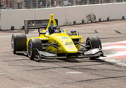 March 9, 2019 - St. Petersburg, FL, U.S. - ST. PETERSBURG, FL - MARCH 09: Toby Sowery Takes 2nd in race 1 during the Indy Lights Race of St. Petersburg on March 9 in St. Petersburg, FL. (Photo by Andrew Bershaw/Icon Sportswire) (Credit Image: © Andrew Bershaw/Icon SMI via ZUMA Press)