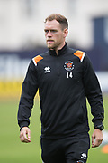 9th July 2019, Dens Park, Dundee, Scotland; Pre-season football friendly, Dundee versus Blackpool; Harry Pritchard of Blackpool inspects the pitch before the match