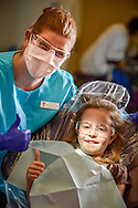 Valencia College's Give Kids a Smile Dental Clinic, Orlando, FL, February 9, 2013. Photo by Roberto Gonzalez