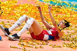 20-10-2018 JPN: Final World Championship Volleyball Women day 21, Yokohama<br /> Serbia - Italy 3-2 / Tijana Boskovic #18 of Serbia