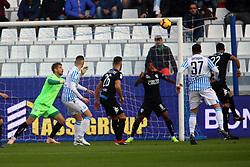 """Foto Filippo Rubin<br /> 01/12/2018 Ferrara (Italia)<br /> Sport Calcio<br /> Spal - Empoli - Campionato di calcio Serie A 2018/2019 - Stadio """"Paolo Mazza""""<br /> Nella foto: GOAL SPAL JASMIN KURTIC (SPAL)<br /> <br /> Photo Filippo Rubin<br /> December 01, 2018 Ferrara (Italy)<br /> Sport Soccer<br /> Spal vs Empoli - Italian Football Championship League A 2018/2019 - """"Paolo Mazza"""" Stadium <br /> In the pic: GOAL SPAL JASMIN KURTIC (SPAL)"""