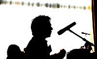 SOESTDUINEN - Spreker aan de microfoon.  Algemene Ledenvergadering van de NGF (Nederlandse Golf Federatie) met bestuurswisseling. COPYRIGHT KOEN SUYK