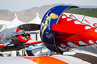 RENO, NV - SEPTEMBER 13: An airplane named Miss TNT sits waiting for todays heats at the Reno Championship Air Races on September 13, 2017 in Reno, Nevada. (Photo by Jonathan Devich/Getty Images)