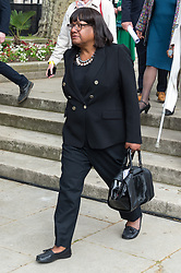 © Licensed to London News Pictures. 24/04/2018. London, UK. © Licensed to London News Pictures. 24/04/2018. London, UK. DIANE ABBOTT MP attends the statue unveiling of the Suffragist leader Millicent Fawcett in Parliament Square. The Mayor of London commissioned Turner prize-winning artist GILLIAN WEARING OBE to create the statue. Photo credit: Ray Tang/LNP