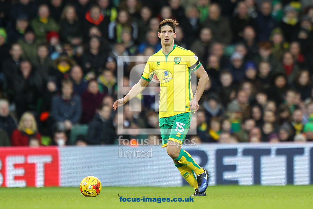 Timm Klose of Norwich in action during the Sky Bet Championship match at Carrow Road, Norwich<br /> Picture by Paul Chesterton/Focus Images Ltd +44 7904 640267<br /> 02/01/2017