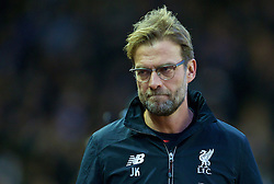 LIVERPOOL, ENGLAND - Boxing Day, Saturday, December 26, 2015: Liverpool's manager Jürgen Klopp during the Premier League match against Leicester City at Anfield. (Pic by David Rawcliffe/Propaganda)