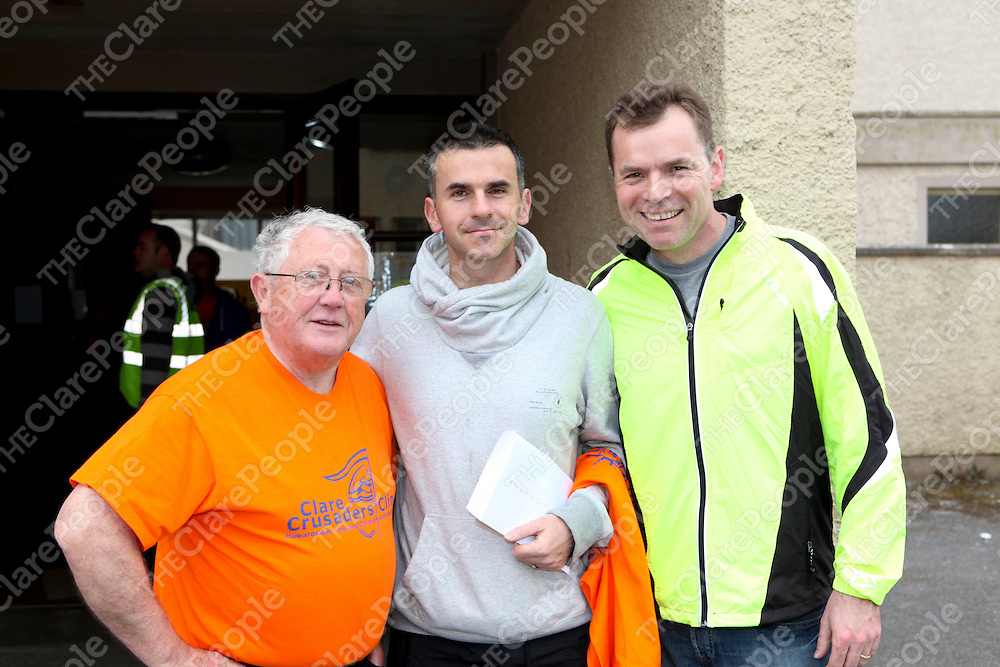 25/4/11<br /> Paddy Howard, Gordon Deegan and Frank Cassidy at the Howard Flannery memorial 10k run in association with the Clare Crusaders Clinic. Pic: Se&Dagger;n Curtin Press 22.<br /> 25/4/11<br /> Paddy Howard, Gordon Deegan and Frank Cassidy at the Howard Flannery memorial 10k run in association with the Clare Crusaders Clinic. Pic: Se&aacute;n Curtin Press 22.