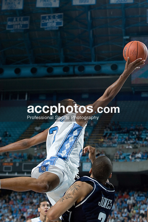 01 November 2006: North Carolina Tar Heels guard (2) Wayne Ellington in a North Carolina Tar Heels 110-79 victory over the Saint Augustine's Falcons at the Dean Smith Center in Chapel Hill, NC.<br />