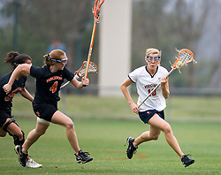 Virginia Cavaliers M Kaitlin Duff (10) in action against Princeton.  The Virginia Cavaliers women's lacrosse team defeated the Princeton Tigers 9-7 at Klockner Stadium in Charlottesville, VA on March 24, 2007.