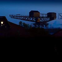 Hammerhead Crane, J Samuel Whites, Ship Yard, Cowes, Isle of Wight, England, UK,