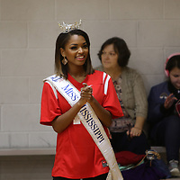 Miss Mississippi, Aysa Branch, came to cheer on all the teams participating in Saturday's Special Olympics Mississippi Spring Games basketball tournament