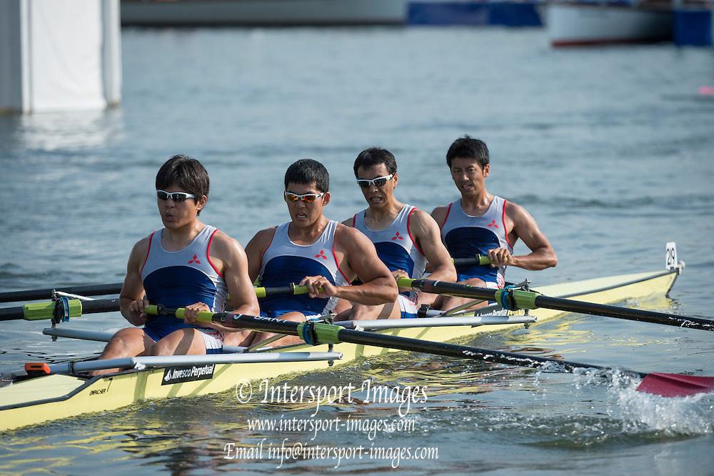 Henley Royal Regatta, Henley on Thames, Oxfordshire, 3-7 July 2013.  Friday  17:37:27   05/07/2013  [Mandatory Credit/Intersport Images]<br /> <br /> Rowing, Henley Reach, Henley Royal Regatta.<br /> <br /> The Wyfold Challenge Cup<br /> Mitsubishi Boat Club, Japan