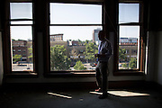 Brian Murray, Founder and CEO of Washington Street Properties, inside the Lincoln Building in Watertown, New York on August 11, 2014.