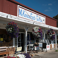 Exterior of McKenzie Feed and Tackle store in Walterville, Oregon.