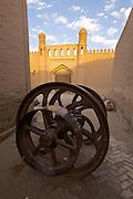 Uzbekistan, Khiva. Iron wheels.